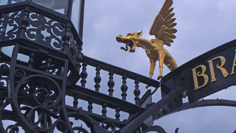 Annual Awards 2016: Gilded dragon detail from the restoration of the Colcutt Function on Richmond Hill