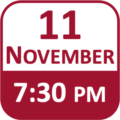 Date Icon for 11 November at 7:30pm