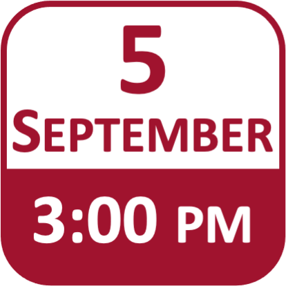 Date Icon for 5 September at 3pm