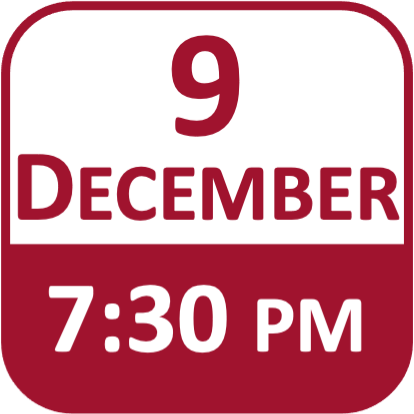 Date Icon for 9 December at 7:30pm