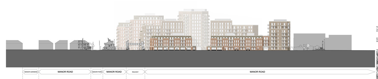 Drawing of Manor Road Development indicating scale