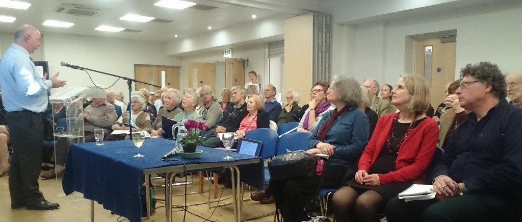 Photo of Jon Freer LBRUT addressing Forum meeting