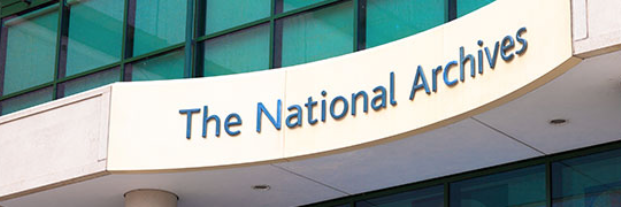 the National Archives entrance