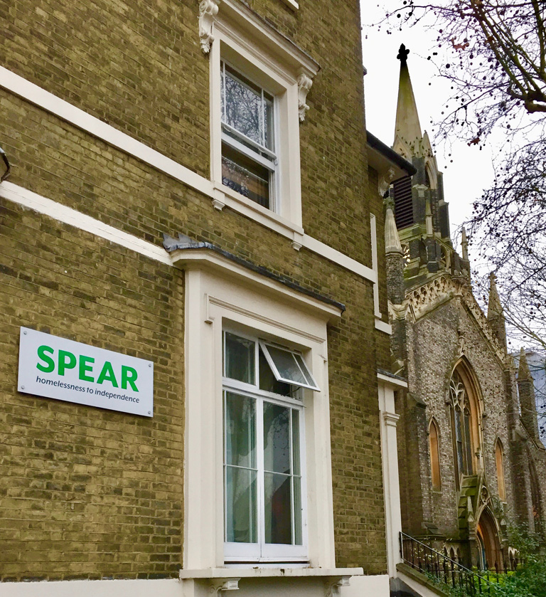 SPEAR building and sign