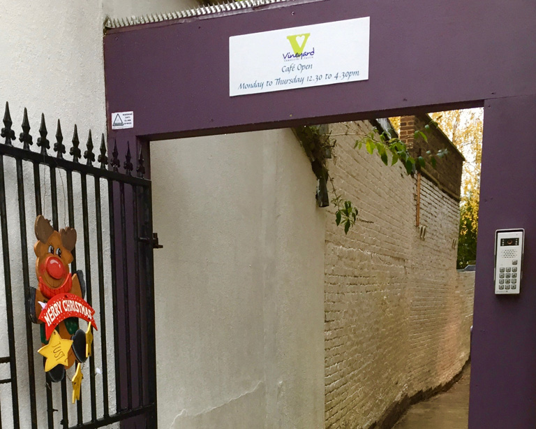 Vineyard Centre entrance